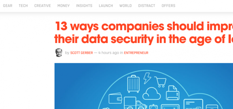 The Next Web Lists 13 Ways Companies Should Improve Data Security in Age of IoT
