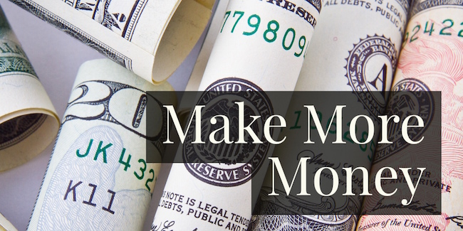how to make more money with money