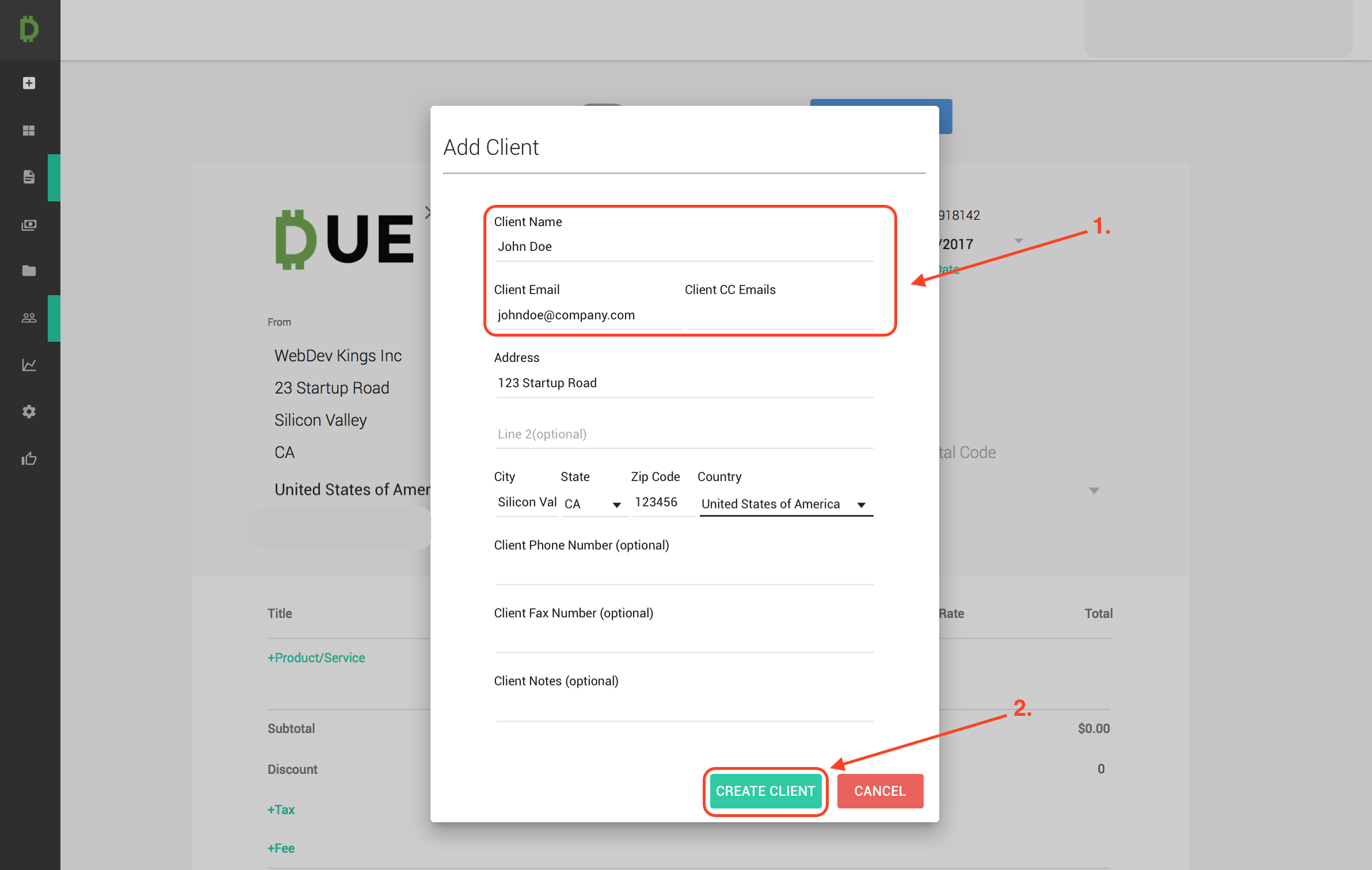 How To Signup And Use Due Invoicing Due - Invoice 3
