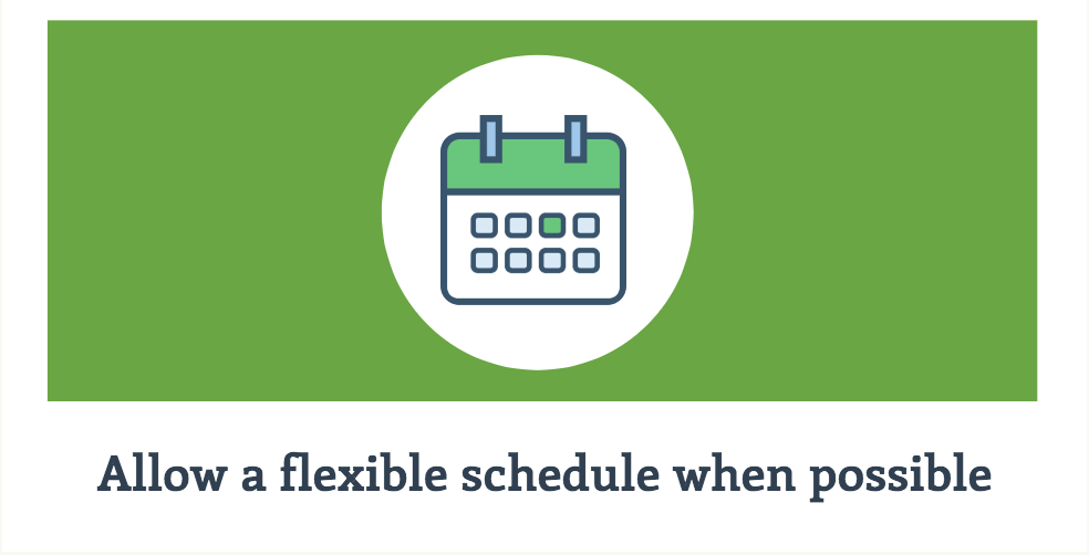 allow-a-flexible-schedule-when-possible