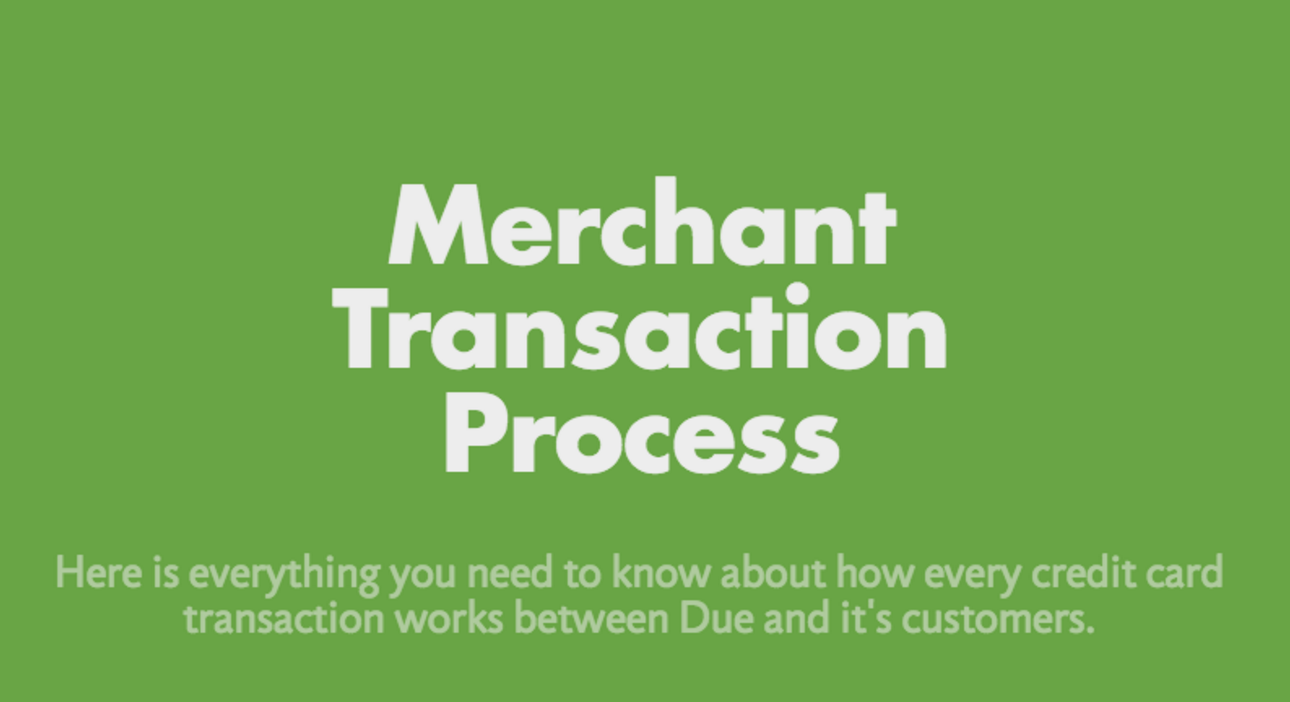 transaction process for merchants
