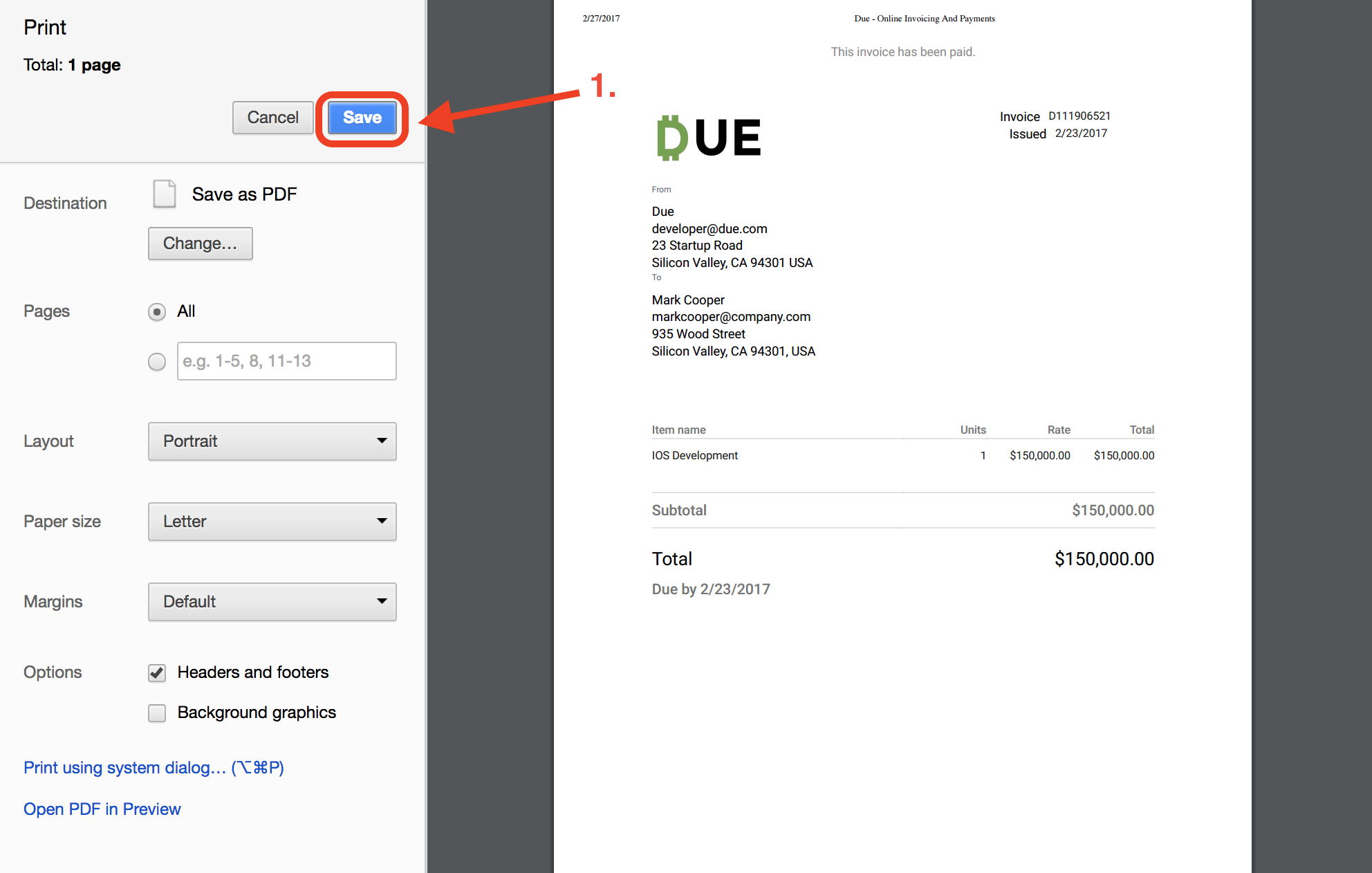 Invoice Pdf | Due Invoicing How To Save An Invoice Pdf Due