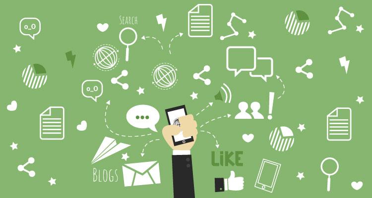 how social media works online