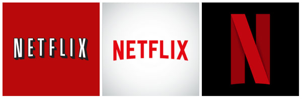 The evolution of Netflix Logo