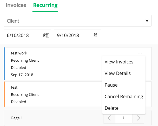 due tutorial how to manage recurring invoices due